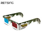 Wholesale customized 3d red blue paper glasses for film or TV