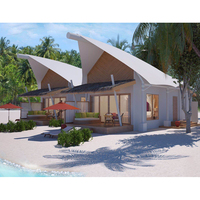 New membrane structure beach hotel tent luxury resort Maldives prefab overwater house over water villa for vacation
