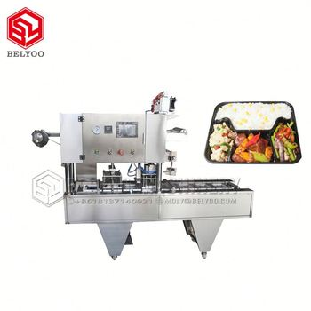 2019 Best Tray Packaging Machine Packing Machine Healthy Meal Prep Tray Packaging Machine For School Lunch Tray