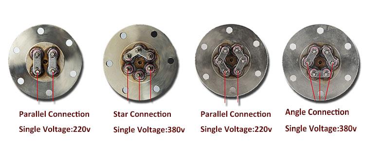 """220V 380V электрический котел фланцевый погружной нагреватель нагревательный элемент с 1 1/4 """"BSP Thread"""