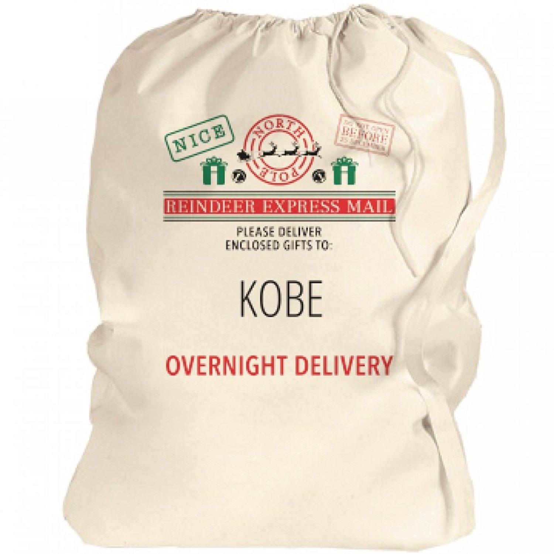Santa Bag Overnight Xmas Delivery For Kobe: Canvas Laundry Bag