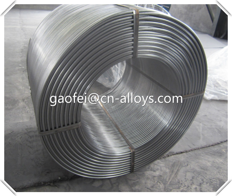 CaSi Cored Wires / Calcium Silicon Cored Wire production alloy supply free samples