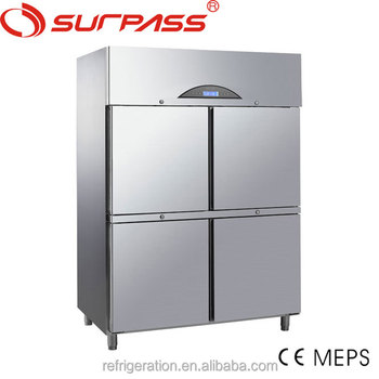 G1270L4F CE CERTIFICATE Surpass Commercial Stainless Steel Upright kitchen Freezer
