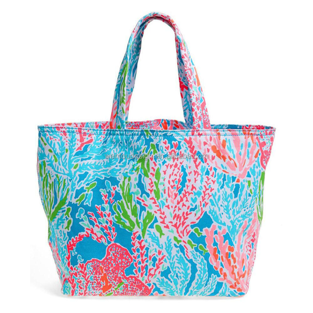 Monogrammed Personalized Lilly Pulitzer Beach Bag