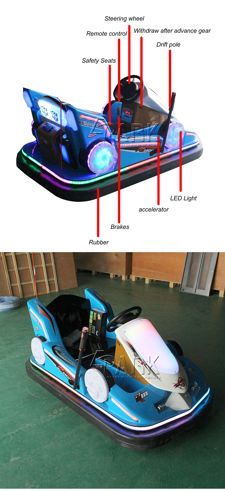 Amusement park indoor bumper cars for sale