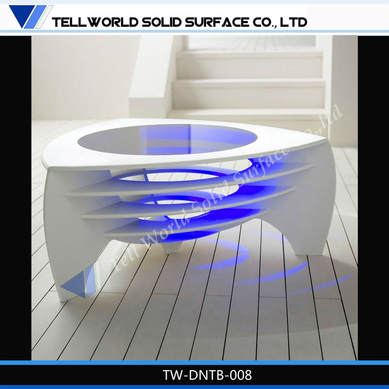 Tw nouveau design pierre artificielle table basse avec led - Table basse avec led ...