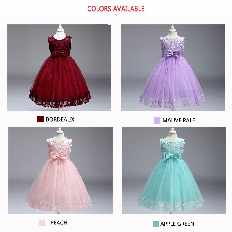 Low Moq Sleeveless Kids Wedding Dresses