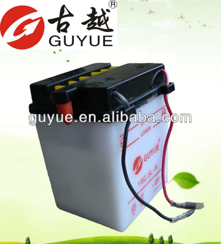 high performance 12v 2.5ah motorcycle lead acid battery