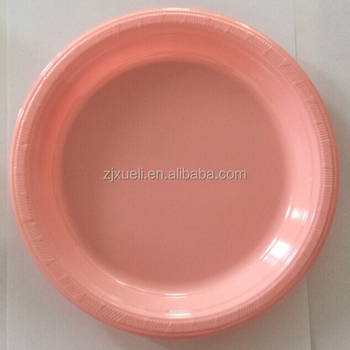 occidental pink disposable plastic plates
