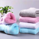 Comfortable soft socks candy color thick winter socks women