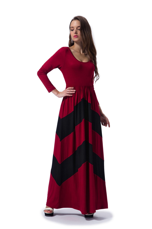 b580908307 Barato al por mayor de tela de viscosa nueva moda de mujer manga larga  Delgado maxi