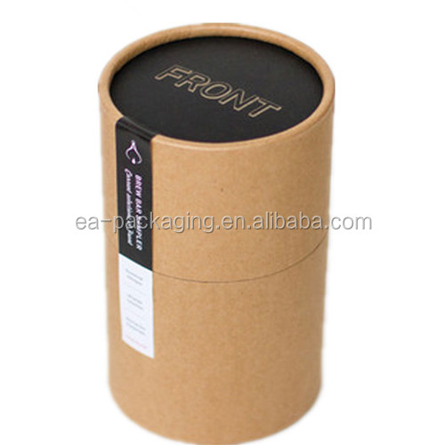Custom tea paper packaging tube cardboard round boxes for packaging