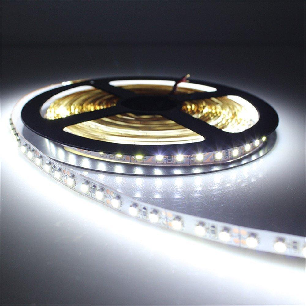 SuperonlineMall™ LED Strip Lights, 12V DC 16.4ft/5m Non-Waterproof LED Flexible Light Strip, 600 LEDs, 3528 SMD, Lighting Strips, LED Tape (Cool White)