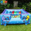 Big blue ocean ball pond inflatable ball pit for kids