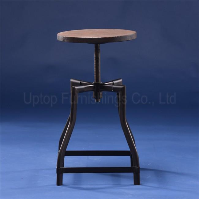 (SP-MC050) Vintage iron seat adjustable swivel turner industrial timber bar stool & sp-mc050) Vintage Iron Seat Adjustable Swivel Turner Industrial ... islam-shia.org
