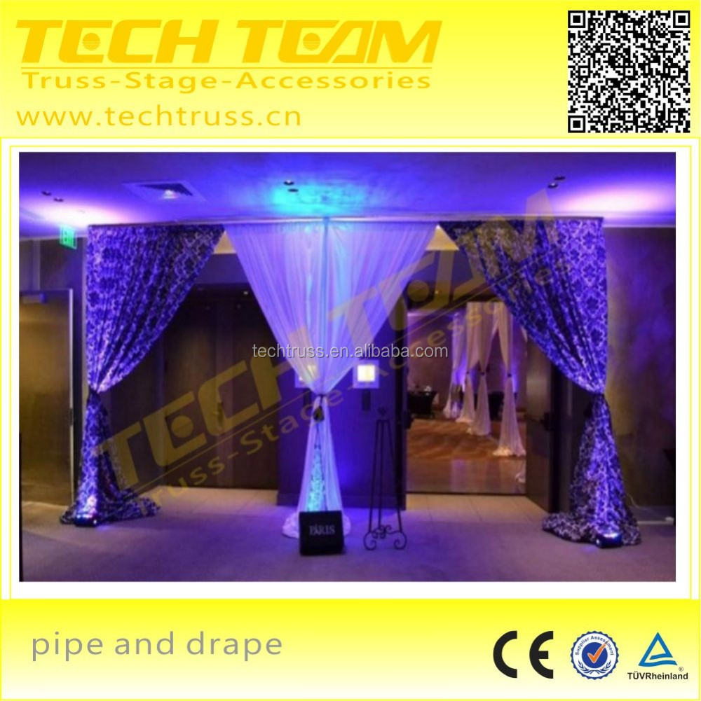 aluminum circle curved drape support for event ,wedding pipe and drape