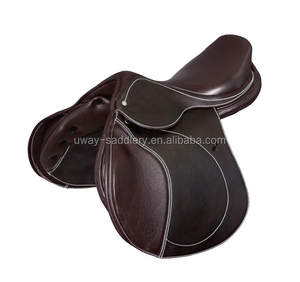 Genuine leather equestrian jumping saddle,different size and color for choice