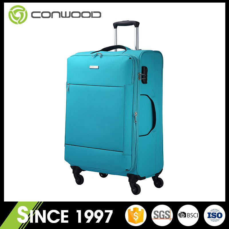 OEM top quality polyester trolley case,hot-sale travel luggage