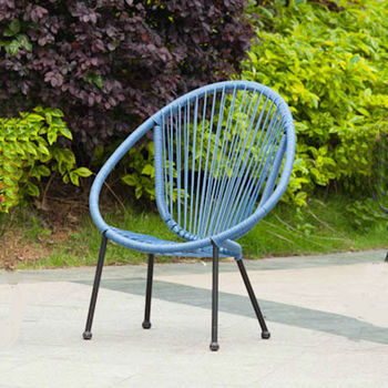 Baby Furniture Children Acapulco Chair, Rattan Baby Oval Chair