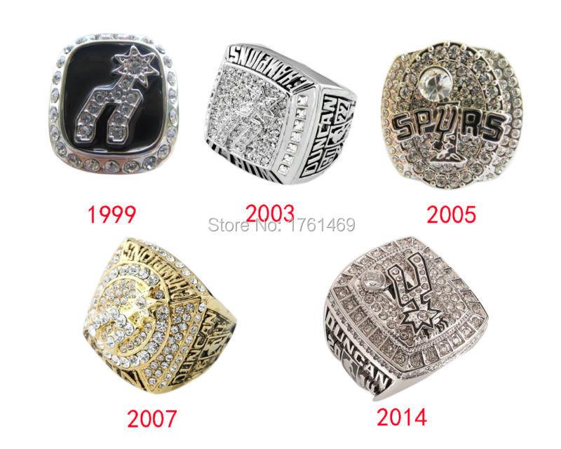 San Antonio Spurs 1999 2003 2005 2007 2014 Championship ...  San Antonio Spu...