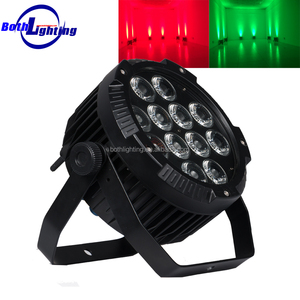 outdoor uplighting IP65 waterproof battery powered led par 12x18w RGBWA UV 6IN1 led flat par