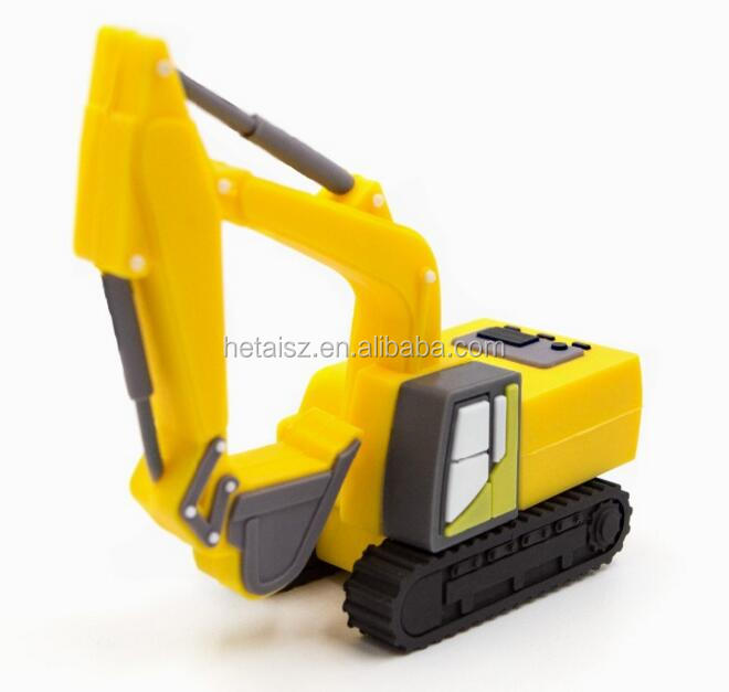 usb flash drive 64g pen drive 32g pendrive 16g 8g 4g new Hot sale pvc Excavator Shape pendrive Usb2.0