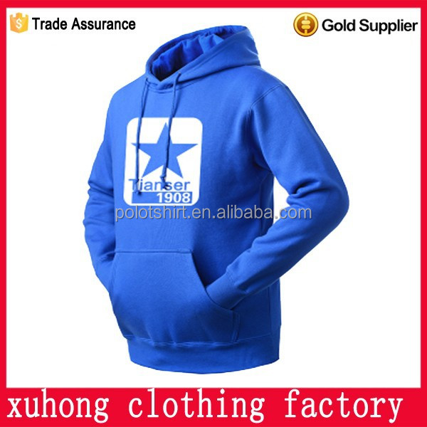 Custom printing long sleeve/sleeveless pullover hoody for men