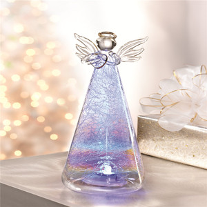 2018 wholesale glass angel with led light
