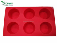 6 cups deep china manufacturer heat resistant non-stick durable fireproof silicone muffin mold