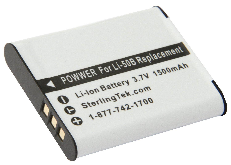 STK's Olympus LI-50B Battery - 1500mAh for Olympus XZ-1,SP-800UZ,SZ-30MR,XZ1,SZ-10,SZ-20,SZ-11,SP800UZ,Olympus Stylus Tough-6020,Tough-8010,Tough-6000,9000,Tough-8000,1010,Tough TG-810,1030 SW,Olympus SP-810UZ,Tough TG-610,TG610,SZ10,Tough 8000,1030SW,TG810,SZ30MR