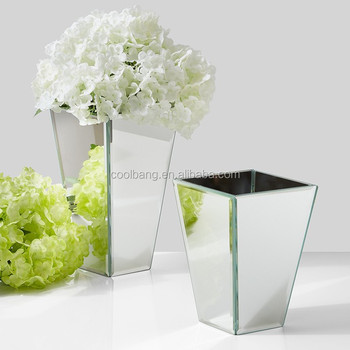 Wholesale Different Shapes Silver Glass Vases Mosaic Glass Vase