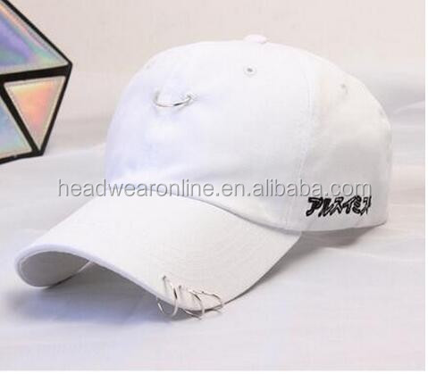 7b91ef9b4 clearance sale hip hop unisex solid Ring Safety Pin curved hats baseball  cap men women snapback caps sport casquette