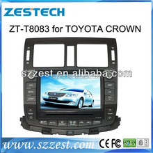 Dashboard placement and 2 din car dvd for Toyota Crown with CE,FCC,ROHS certification