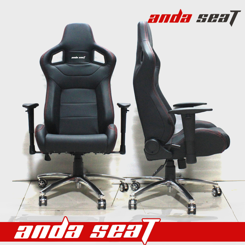 DALANG All Black Highest Quality Gaming Chair Racing Gamer Chair Computer Game Chair AD-2