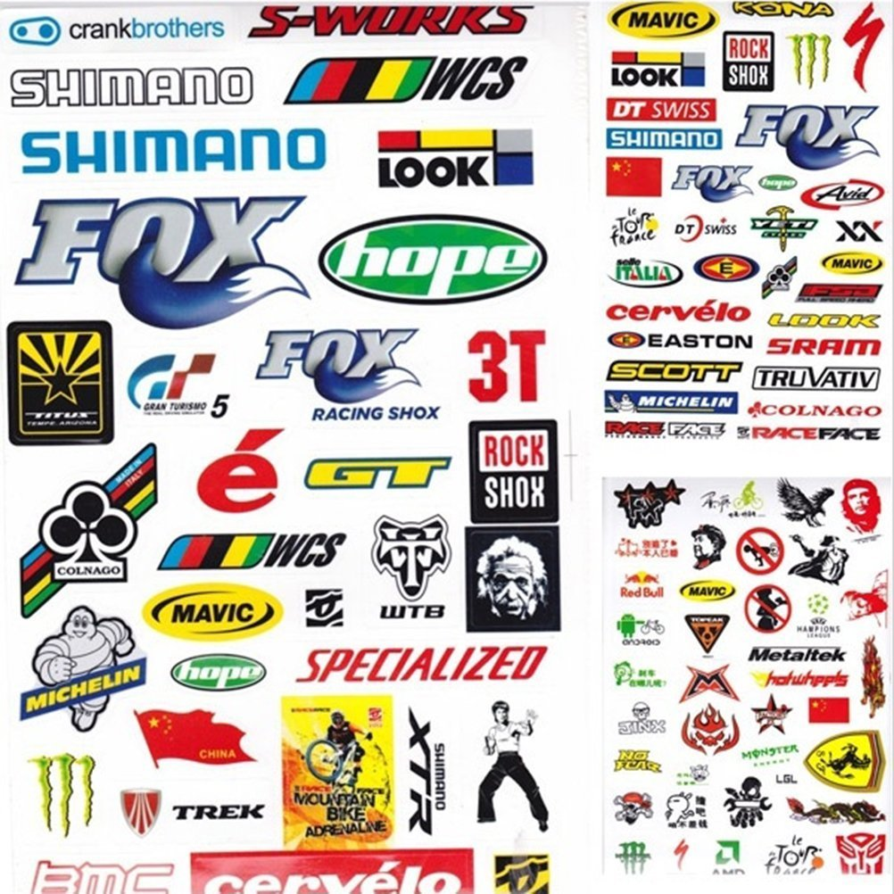 Buy Sticker Decal Bicycle Mountain Bike Name Label Flag