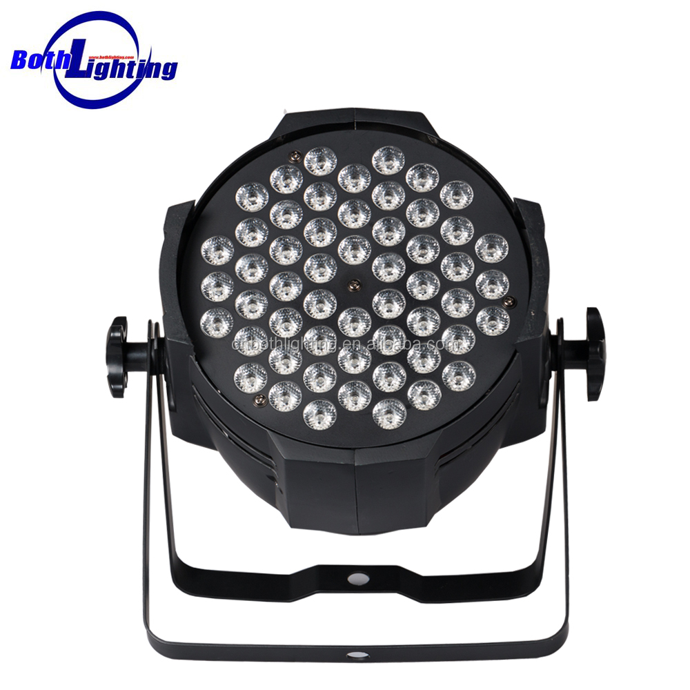 Wholesale Stage Event wedding multicolor uplights dmx flat RGBW 54 * 3w led par can pro stage lights
