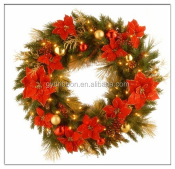 2015 Sj Af1053wedding Artificial Magnolia Wreath In Fake Berry ...