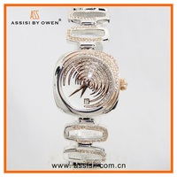 Assisi diamond metal band rose / gold silver color fashion quartz lady watches Jewelry clasp wrist watch