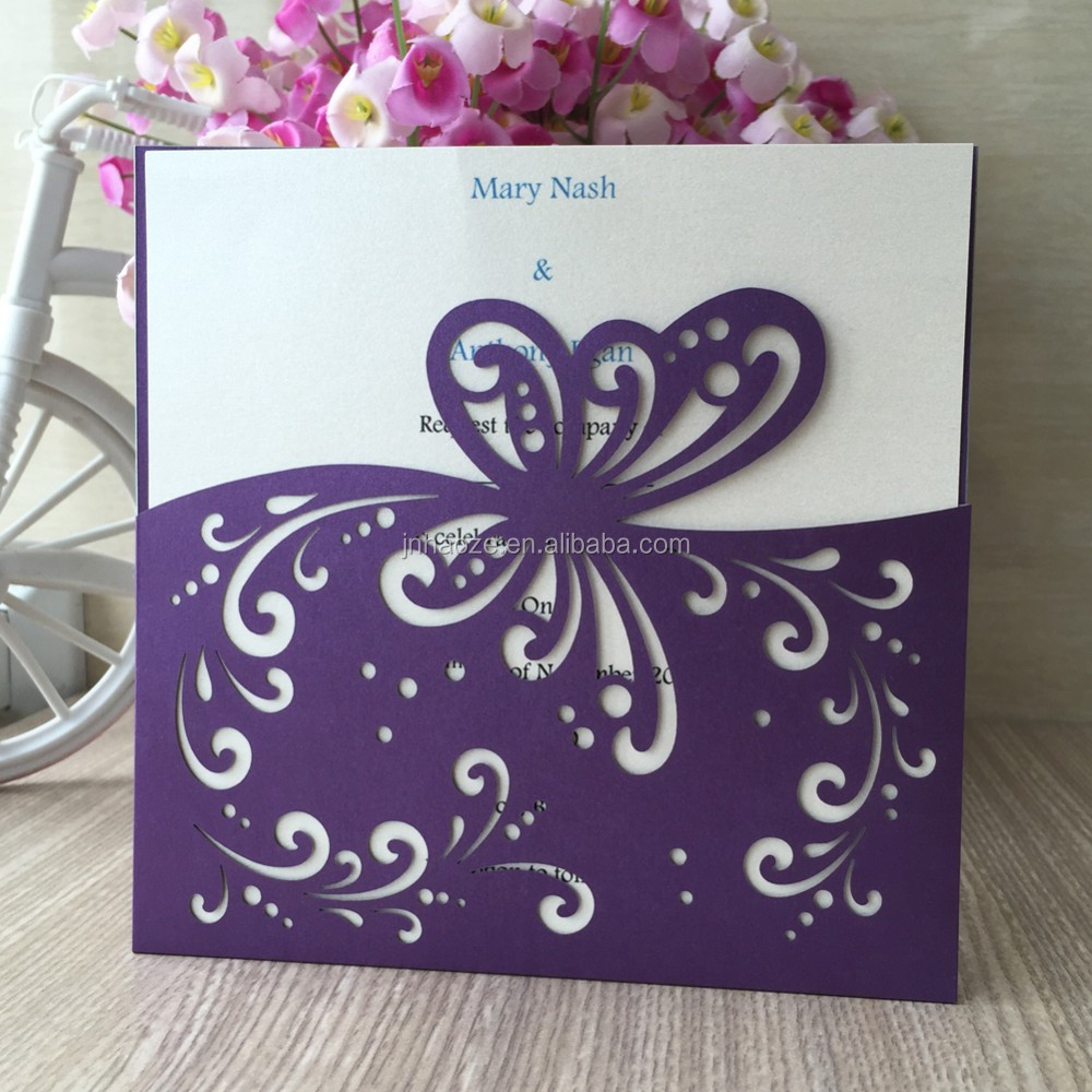 Luxurious laser cut lace carving waves and butterfly wedding luxurious laser cut lace carving waves and butterfly wedding invitations birthday business party funny print board greeting card monicamarmolfo Gallery