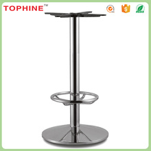 Modern artistic furniture parts chrome steel bar table base