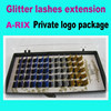 Glitter synthetic eyelashes charming lash extension supplies