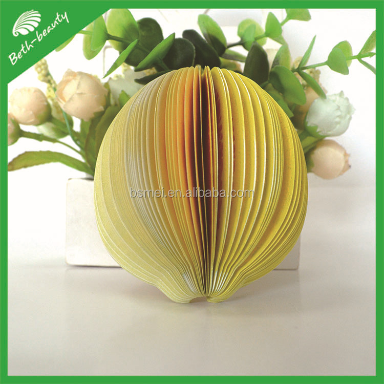 Customized design sticky notepad, sticky note, fruit shape memo pad