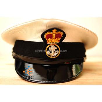 White Seaman Cap,Uniform Cap,Captain Cap - Buy Sea Captain Caps,Uniform  Peak Cap,Captain Cap Hat Product on Alibaba com