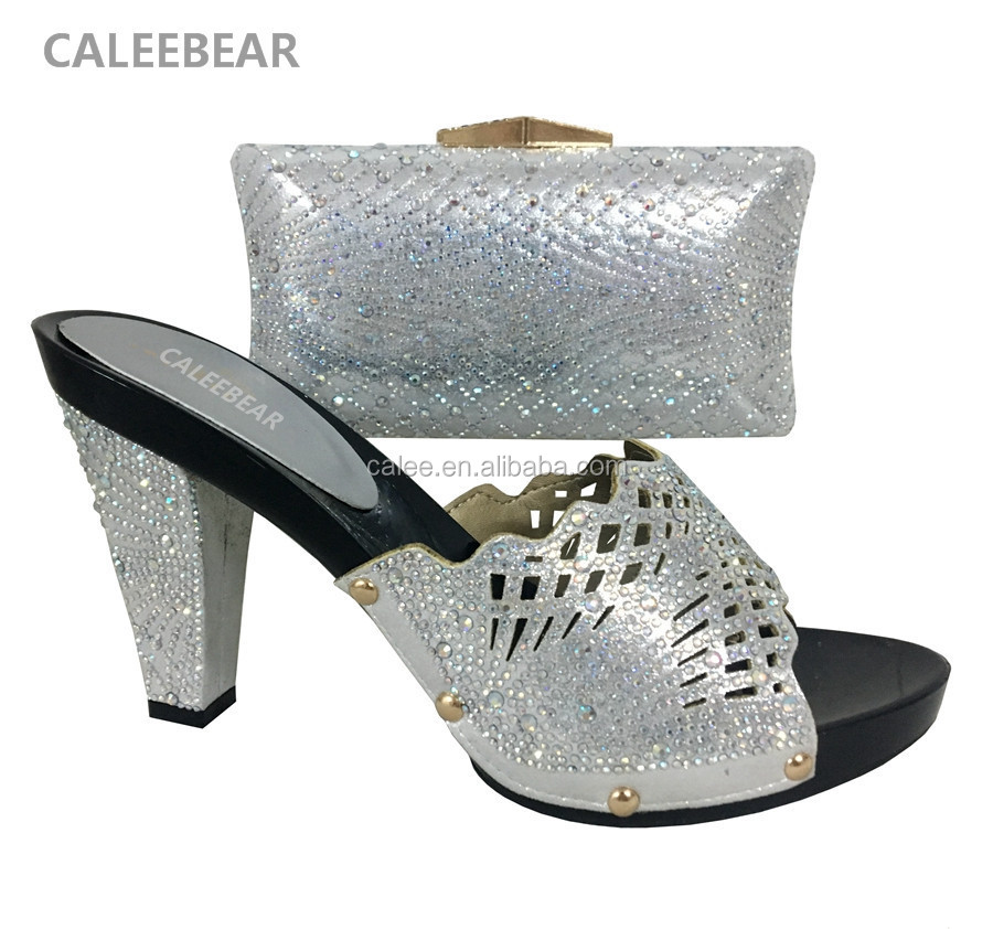 Design Ladies Bag Shoes Elegant Shoe And To African Shoes Set Heel Italian Match Bags High RdUFW4
