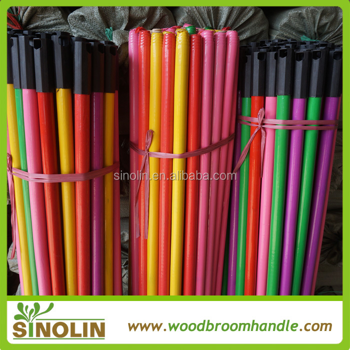 2015 hotsell plastic broom stick with big plastic cap