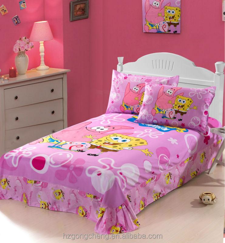 Beautiful Children Bedding Set 3pcs,Quilt Cover,Bed Sheet,Pillow ... : spongebob quilt cover - Adamdwight.com