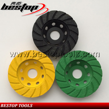 "Bestop Diamond Tools 4"" 100MM Turbo Shape Abrasive Stone Grinding Wheel"