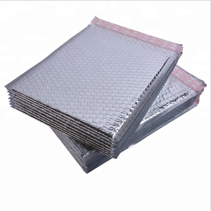 Custom Color Printed Aluminum Foil Padded Mailer Self Adhesive Seal Shipping Metallic Padded Bubble Envelope
