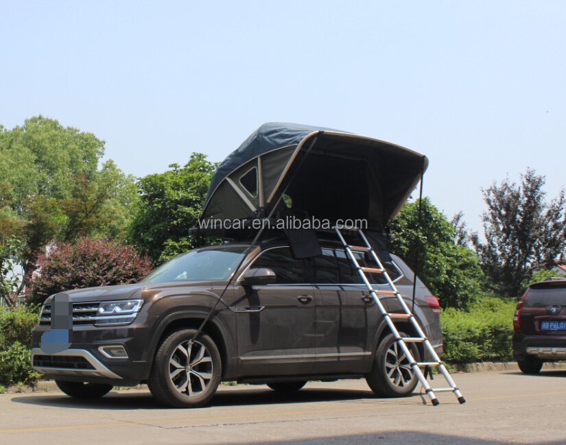 Open In One Side Manually Overland Roof Top Tents With One Ladder & Open In One Side Manually Overland Roof Top Tents With One Ladder ...