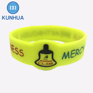 100% Eco Friendly Custom Segment color jelly rubber jelly led watch jaipur bangles advertising rubber bracelet